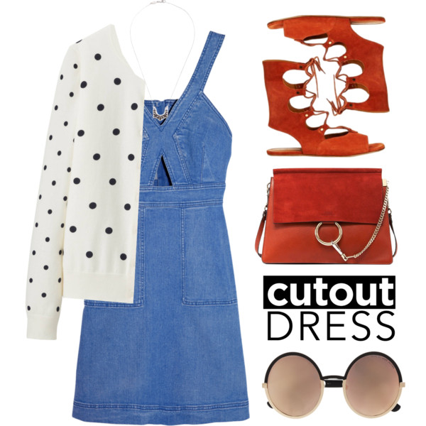 outfit ideas with denim dress 8