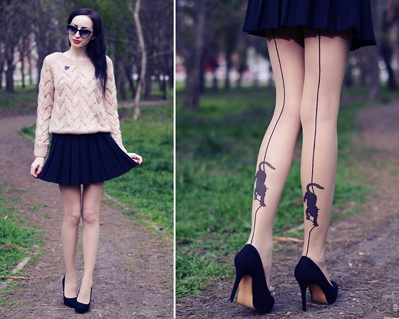 outfit ideas with hosiery 2
