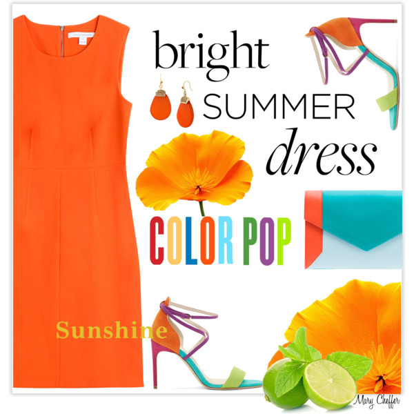 outfit ideas with orange dresses 1
