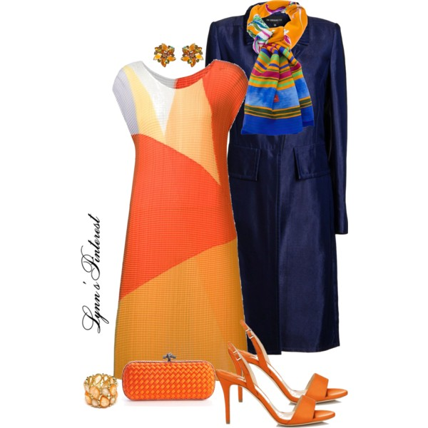 outfit ideas with orange dresses 10