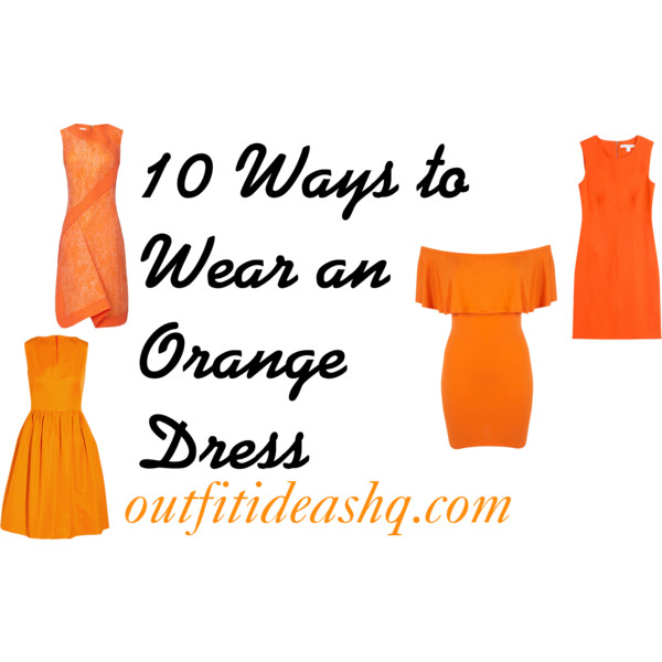 outfit ideas with orange dresses 11