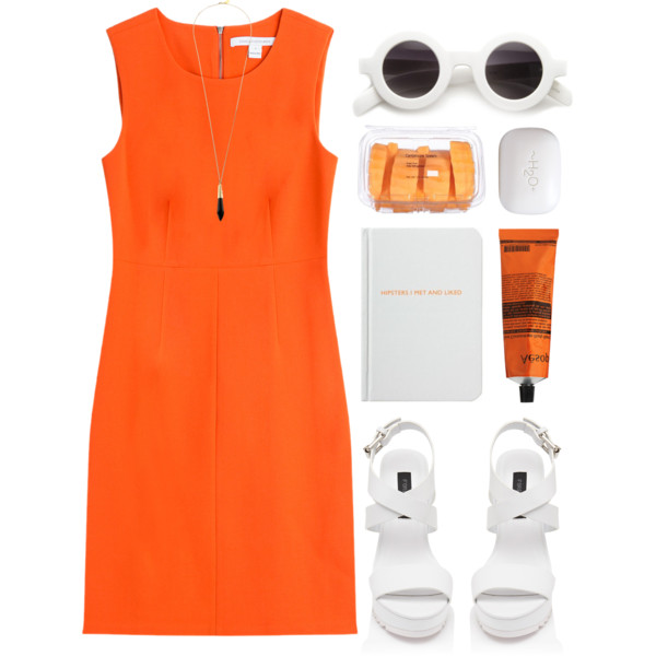 outfit ideas with orange dresses 4