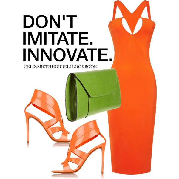 outfit ideas with orange dresses 7
