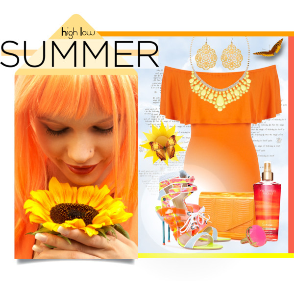 outfit ideas with orange dresses 8