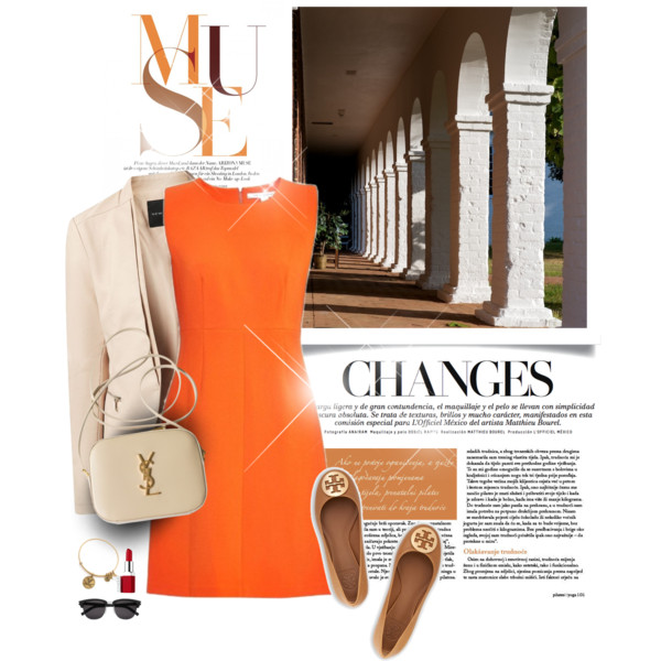 outfit ideas with orange dresses 9