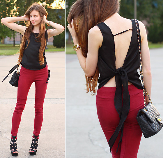 outfit ideas with red trousers 1
