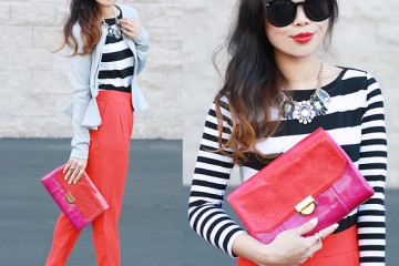 outfit ideas with red trousers 4