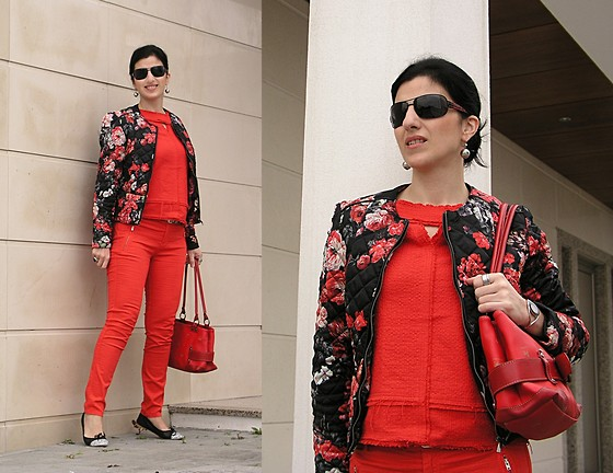 outfit ideas with red trousers 6