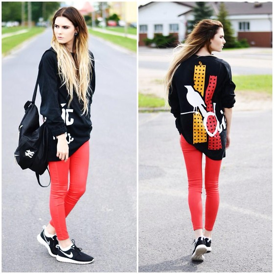 outfit ideas with red trousers 7