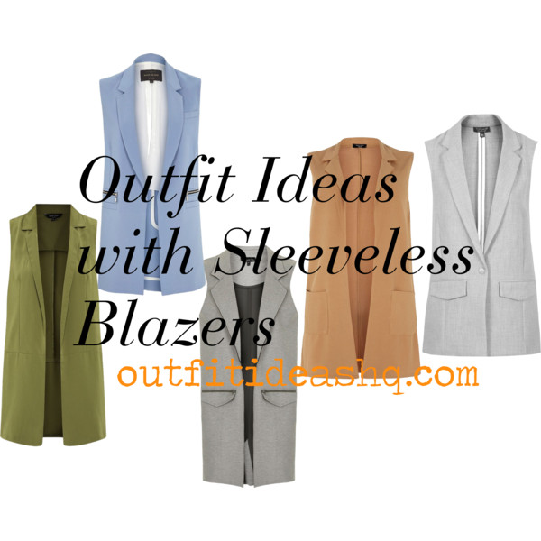 outfit ideas with sleeveless blazer 11