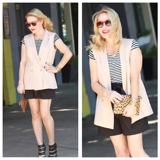 outfit ideas with sleeveless blazer 2