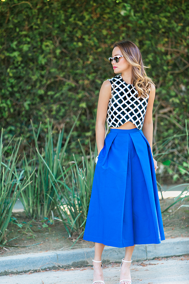 crop top + culottes outfit ideas 10