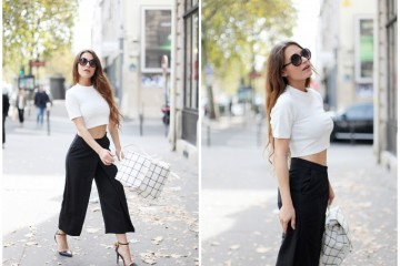 crop top + culottes outfit ideas 11