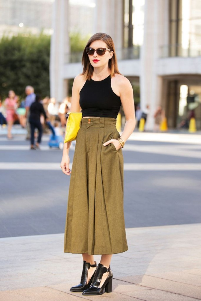 crop top + culottes outfit ideas 2