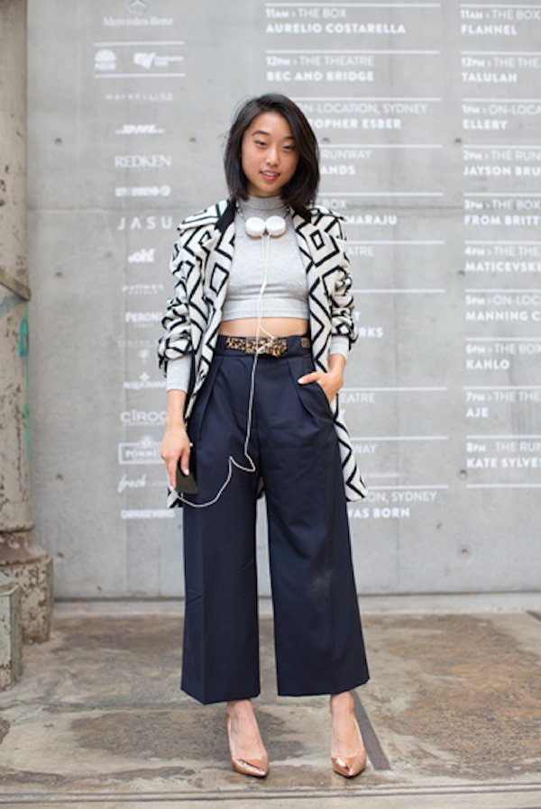 crop top + culottes outfit ideas 5