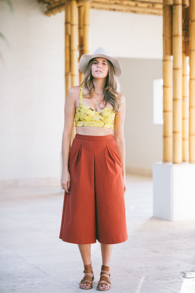 crop top + culottes outfit ideas 9