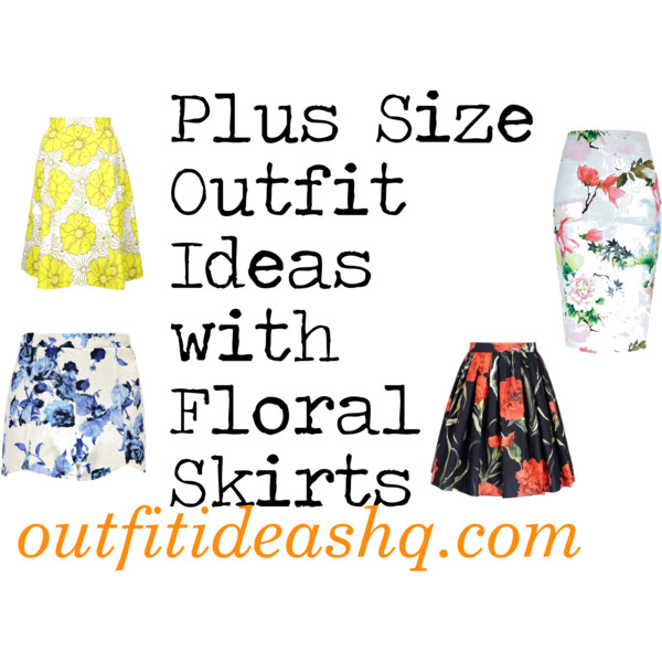 curvy plus size floral skirt women outfit ideas 11