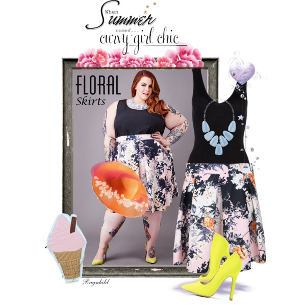 9aa0941bfdf curvy plus size floral skirt women outfit ideas 4 - Outfit Ideas HQ