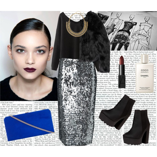 f3ec4292 fall outfit ideas with sequined skirts 6 - Outfit Ideas HQ