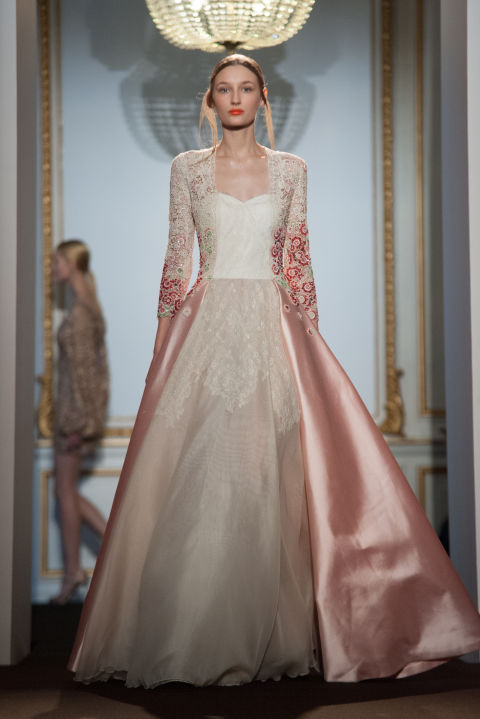 Couture Wedding Dresses Brigg : Look at that super feminine and classy it s both girly
