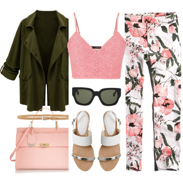 outfit ideas with floral trousers 1
