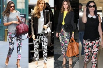 outfit ideas with floral trousers 12