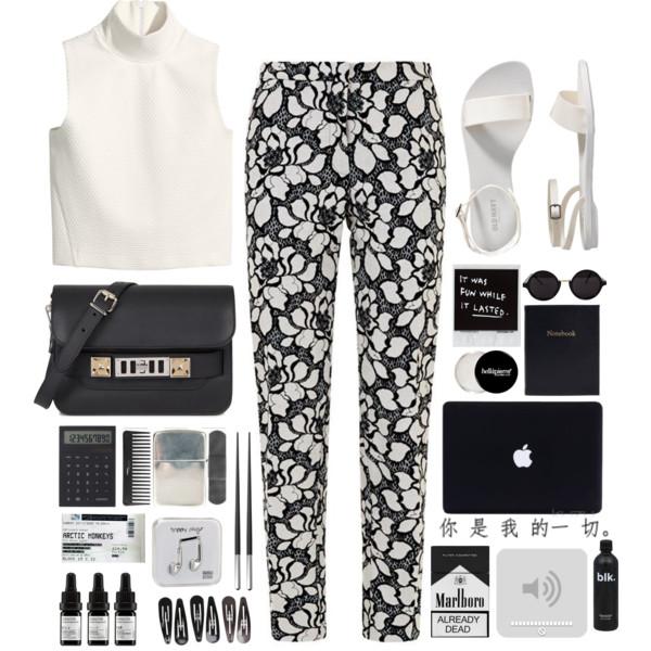 outfit ideas with floral trousers 2