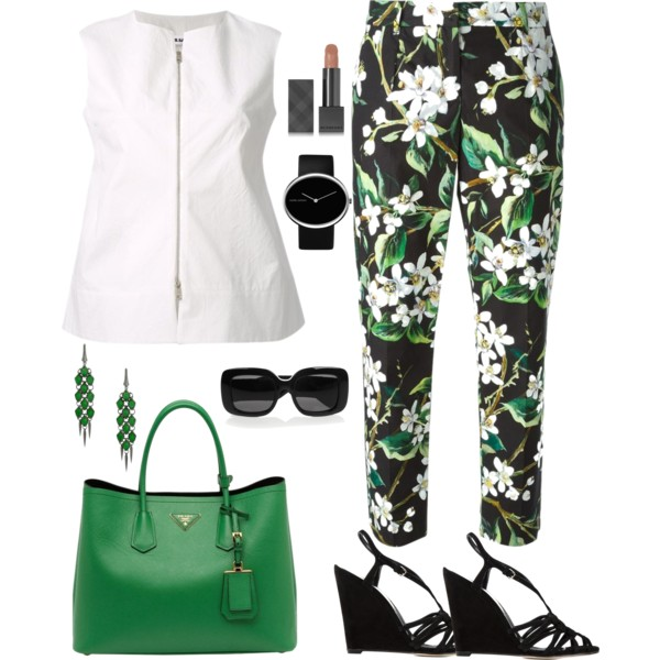 outfit ideas with floral trousers 3