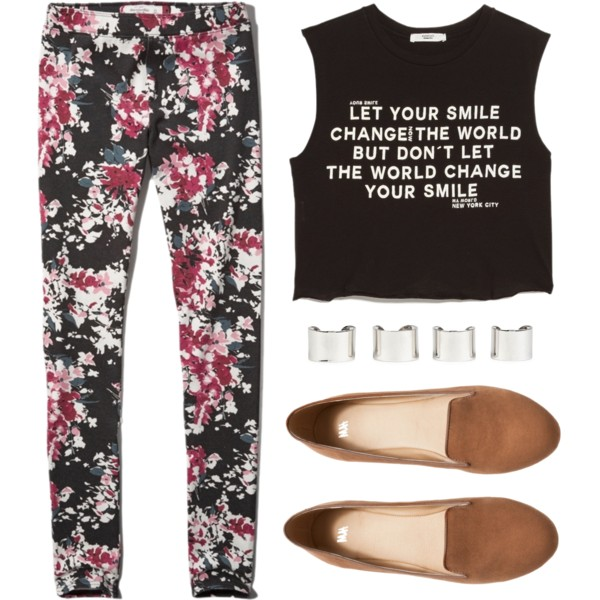 outfit ideas with floral trousers 5