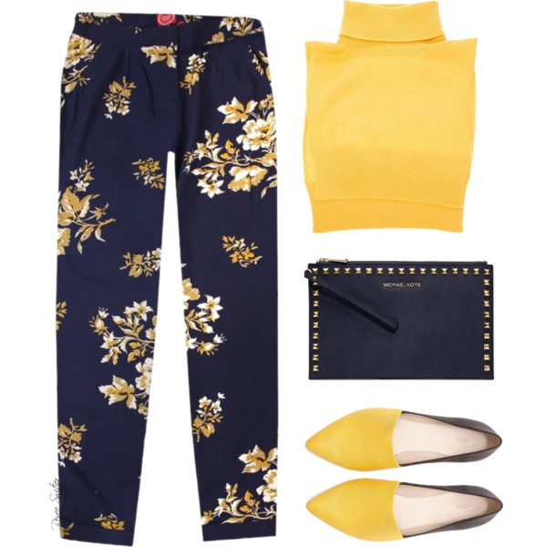 outfit ideas with floral trousers 8