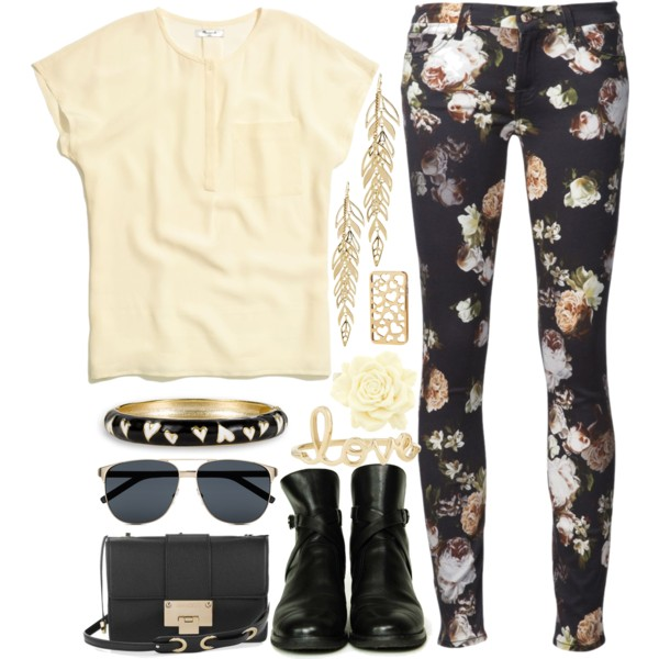 outfit ideas with floral trousers 9