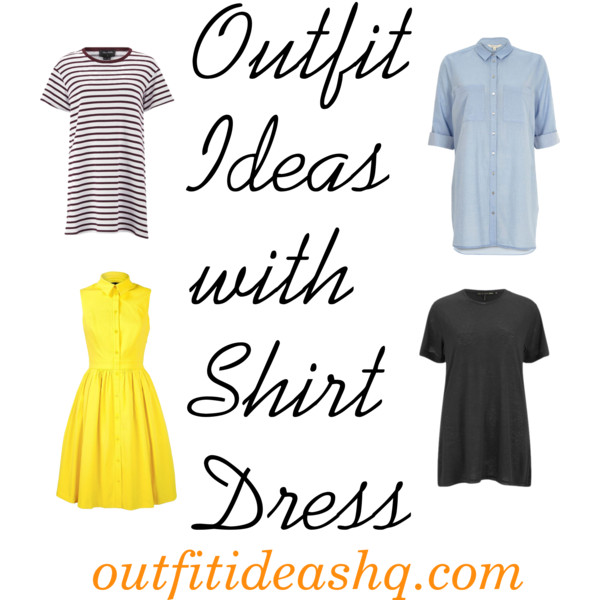 outfit ideas with shirt dress 10