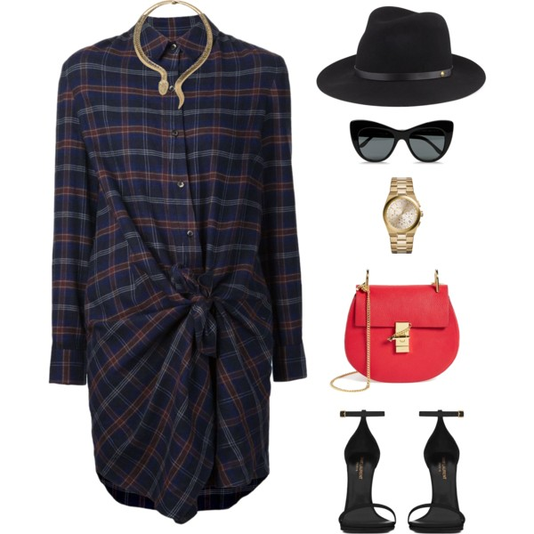 outfit ideas with shirt dress 6