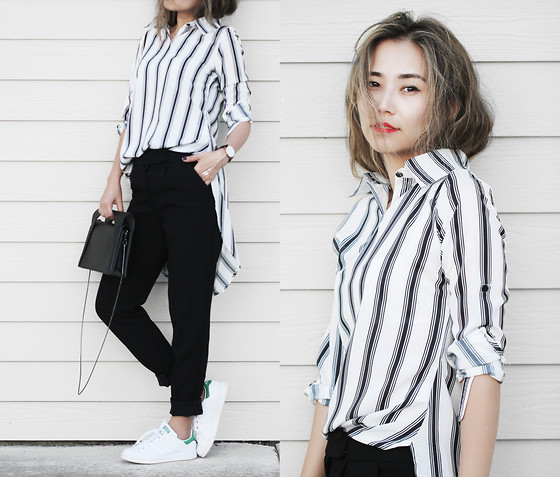 trendy black and white outfit ideas 12