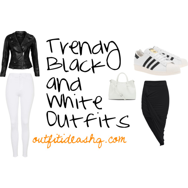 trendy black and white outfit ideas 13