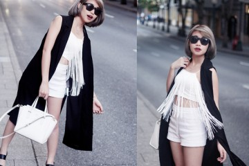 trendy black and white outfit ideas 2