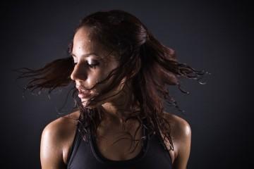 sweating girl