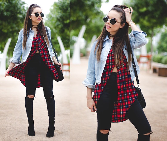 casual outfits with outerwear and denim combo 8