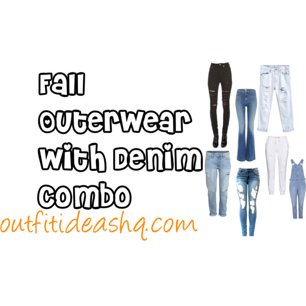 casual outfits with outerwear and denim combo 9