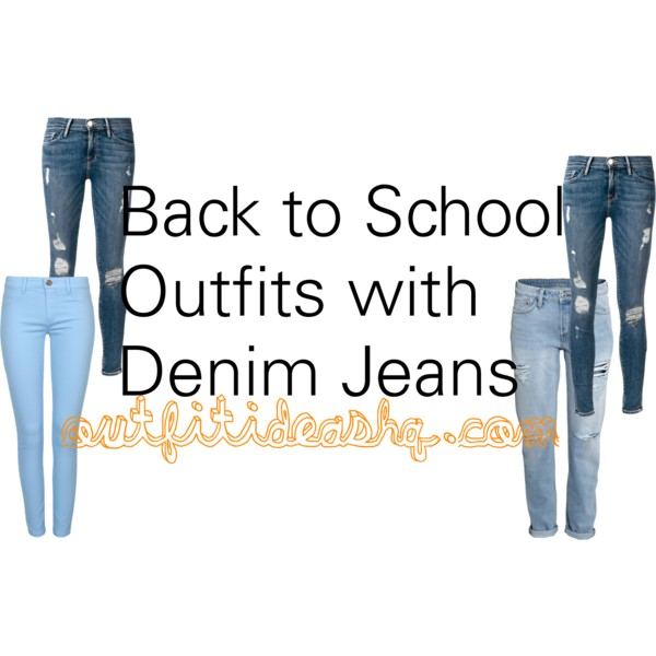 denim jeans back to school outfit ideas 11