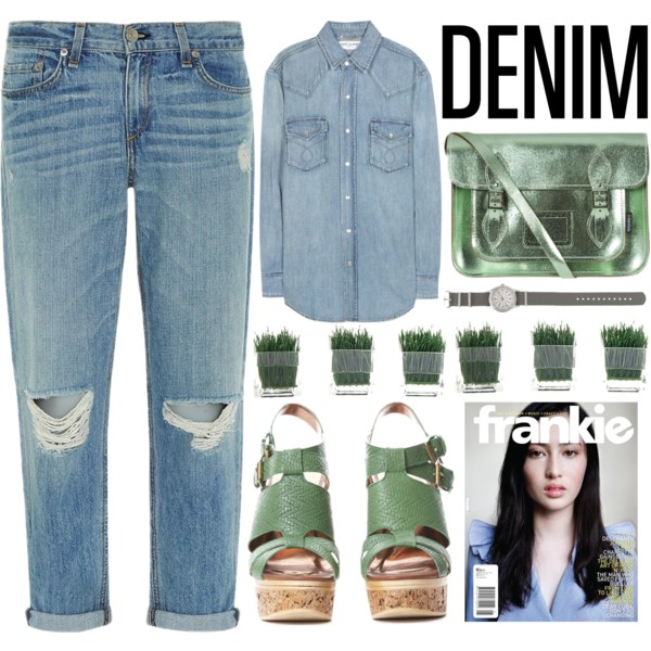 denim jeans back to school outfit ideas 4