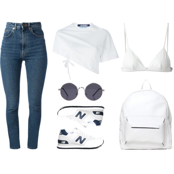 denim jeans back to school outfit ideas 6