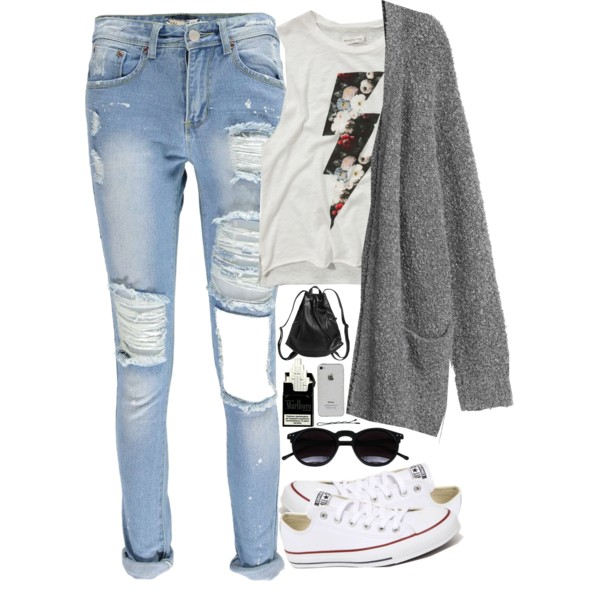 denim jeans back to school outfit ideas 8