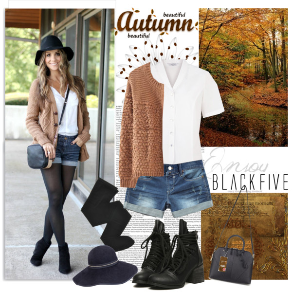 fall outfit ideas with shorts 1