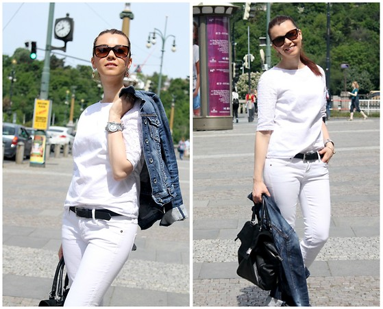 fall outfit ideas with white jeans 7