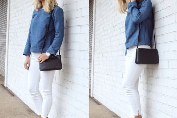 fall outfit ideas with white jeans 9