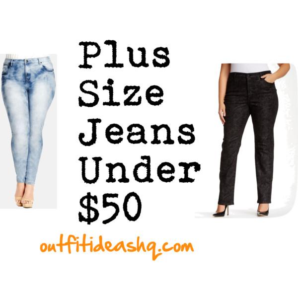 plus sized jeans under $50 11