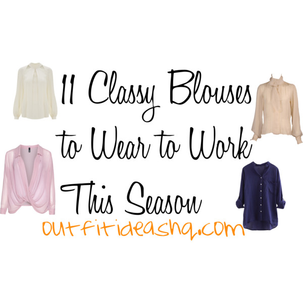 classy blouses to wear for work 13