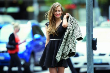 fall dresses to wear under your coat 11