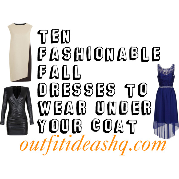 fall dresses to wear under your coat 12